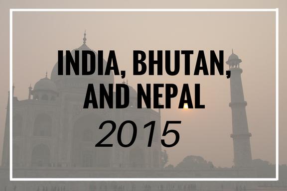 India Bhutan Nepal 2015