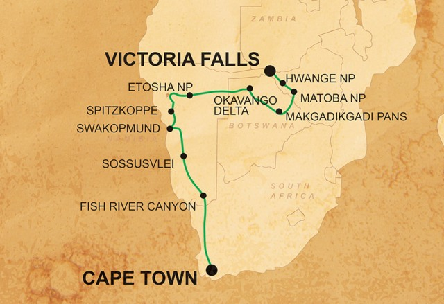 Victoria Falls to Cape Town