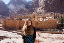 outside St. Catherine's Monastery
